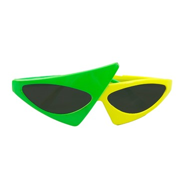 Two Tone Glasses - 80's Green/Yellow