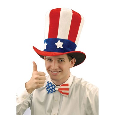 USA Felt Top Hat Uncle Sam Costume Accessory