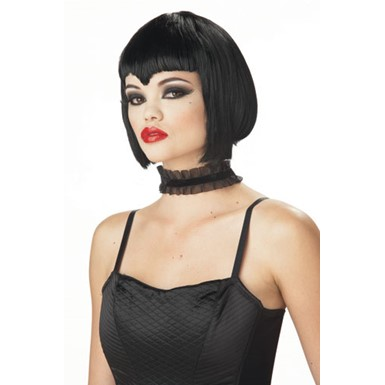 Va Va Vamp Black Wig for Adult Halloween Costume