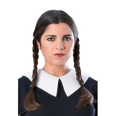 Wednesday Addams Adult Wig for Halloween Costume