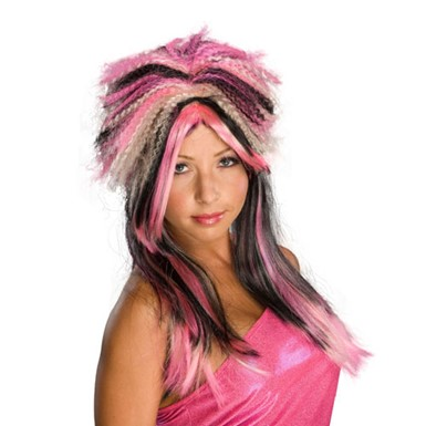 White and Pink Wig