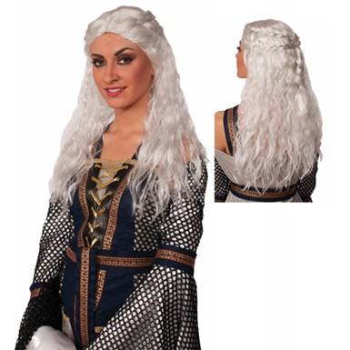 White Fair Lady Medieval Wig