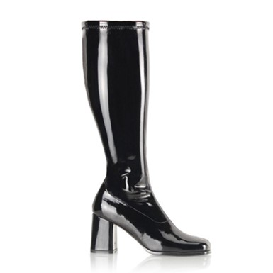Wide Calf Gogo Boots - Black