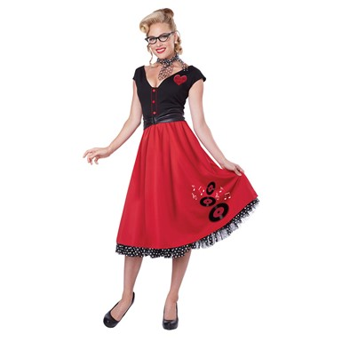 Womens 50's Rock And Roll Sweetheart Costume