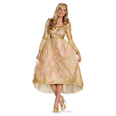 Womens Aurora Coronation Gown Deluxe Costume