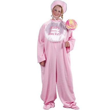 Womens Baby Costume - Plus Size Pink