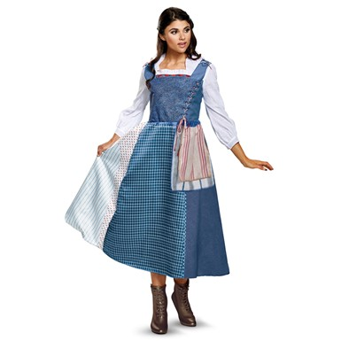 Womens Belle Village Dress Deluxe Costume