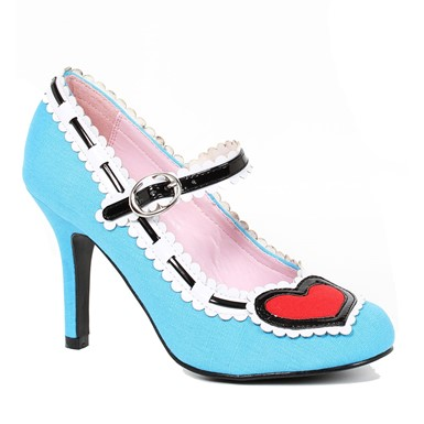Womens Blue Alise Pump Heart Heels