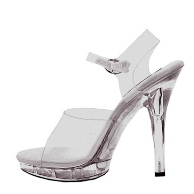Womens Brook Clear Heel Shoes