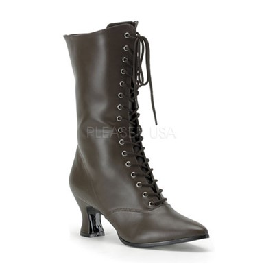 Womens Brown Victorian Boots - Steampunk