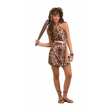 Womens Cavewoman Costume - Cave Beauty