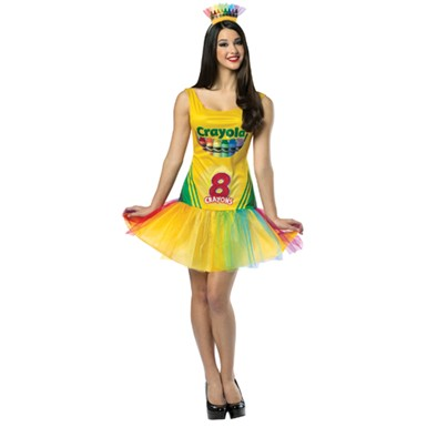 Womens Crayon Box Dress Costume - Crayola