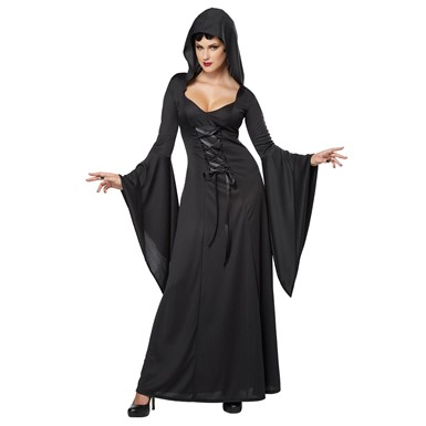 Womens Deluxe Hooded Robe Costume
