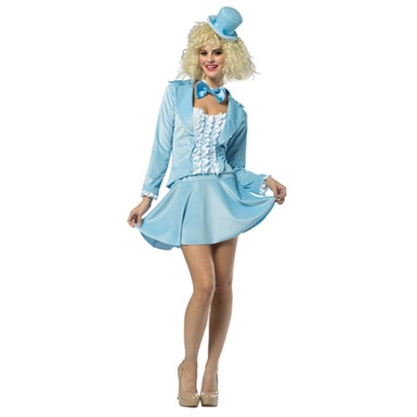 Womens Dumb And Dumber Harry Tuxedo Dress - Blue