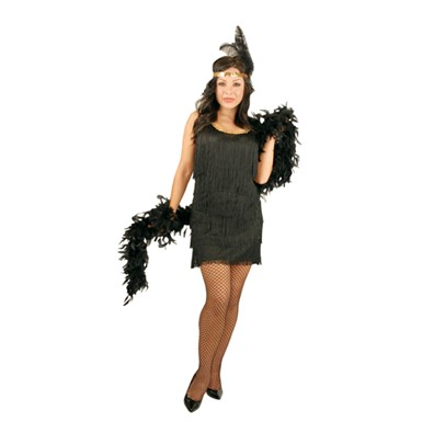 Womens Flapper Costume - Fashion Flapper Girl Black Plus Size