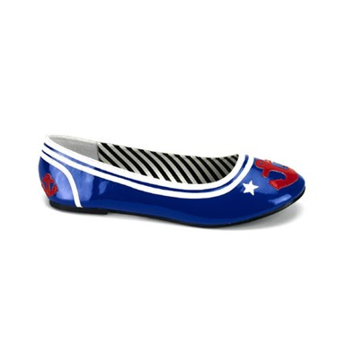 Womens Flat Sailor Girl Shoes