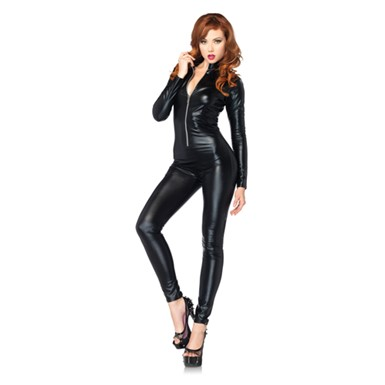 Womens Full Body Zipper Catsuit