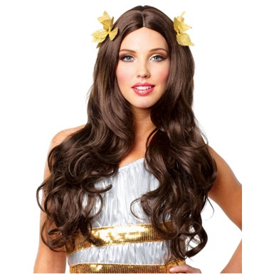 Women's Greek Goddess Halloween Wig - Brunette