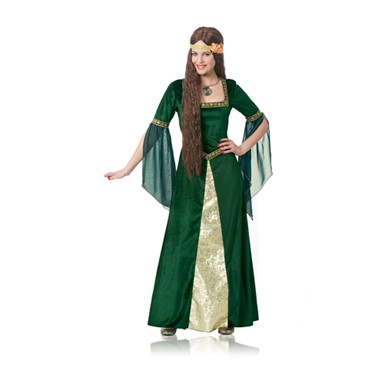 Womens Green Renaissance Lady Costume