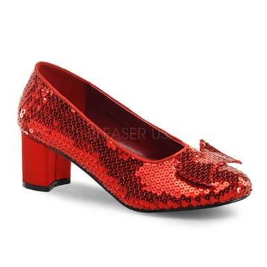 "Womens Halloween Dorothy Red 2"" Heeled Shoes"