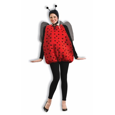 Womens Lady Bug Costume - Puffy Suit