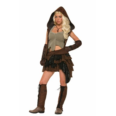 Womens Medieval Rogue Warrior Costume