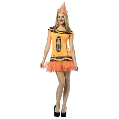 Womens Metallic Sunburst Glitter Dress Costume - Crayola