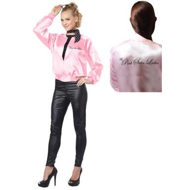 Womens Pink Satin Ladies Costume