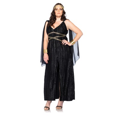 Womens Plus Size Dark Goddess Costume