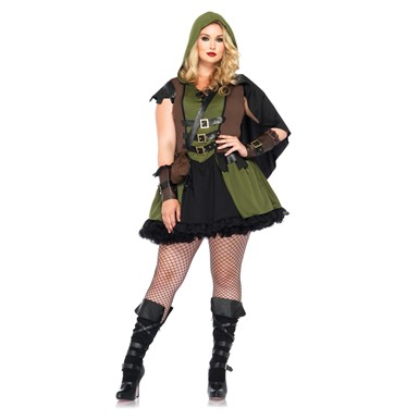 Womens Plus Size Green Riding Hood Costume