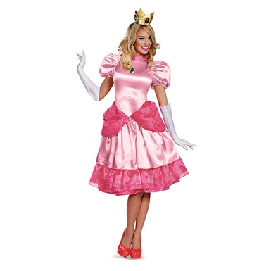 Womens Princess Peach Deluxe Costume