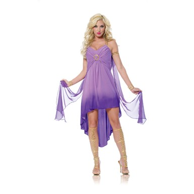 Womens Purple Roman Goddess Costume