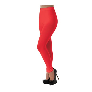 Womens Red Leggings Halloween Accessory