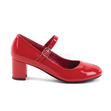 Womens Red Patent Shoes - School Girl