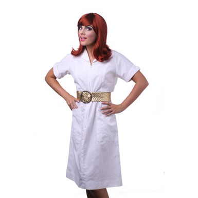 Womens Red Peggy Sue Halloween Costume Wig