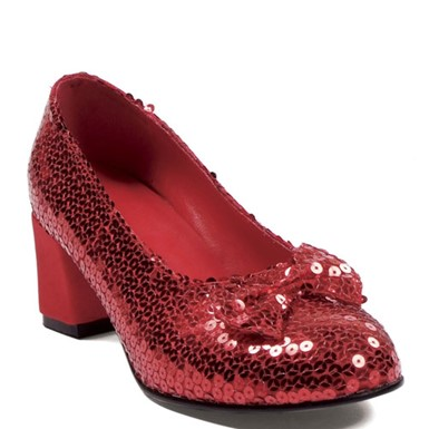 Womens Red Sequins Shoes