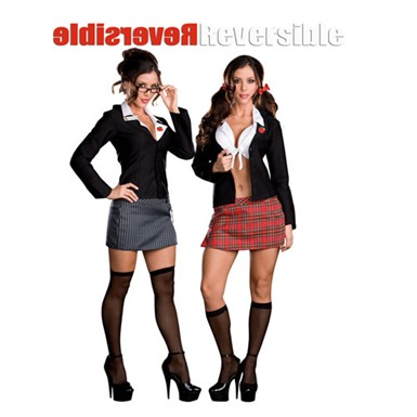 Womens Reversible Costume - Trouble at School