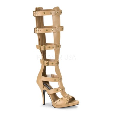 Womens Roman Heeled Shoes - Gladiator