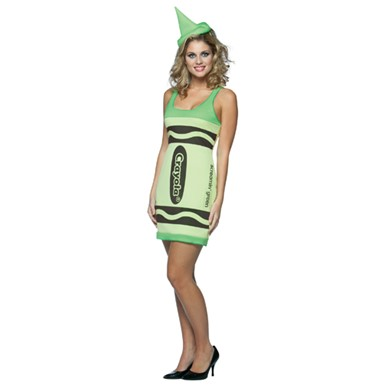Womens Sexy Crayon Costume - Screamin' Green