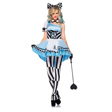 Womens Sexy Harlequin Alice Halloween Costume