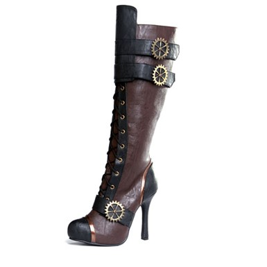 Womens Sexy Knee High Steampunk Boots Footwear