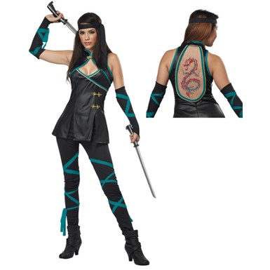 Womens Sexy Night Ninja Costume