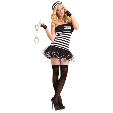 Womens Sexy Prison Inmate Costume