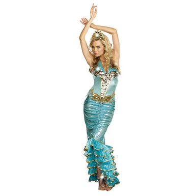 Womens Sexy Sea Queen Mermaid Costume