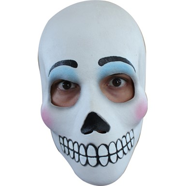 Womens Skull Day Of The Dead Catrina Adult Costume Mask