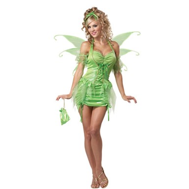 Womens Tinkerbell Fairy Costume
