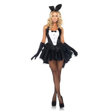 Womens Tux And Tails Bunny Sexy Halloween Costume