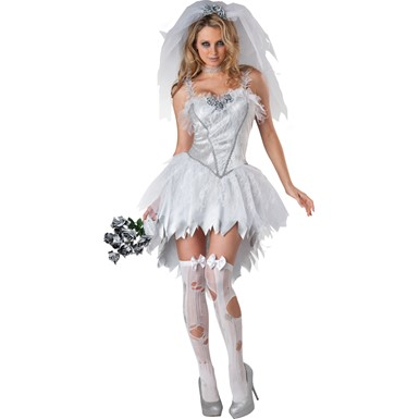 Womens Undead Bloodless Bride Costume