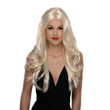 Womens Victoria Blonde Halloween Costume Wig