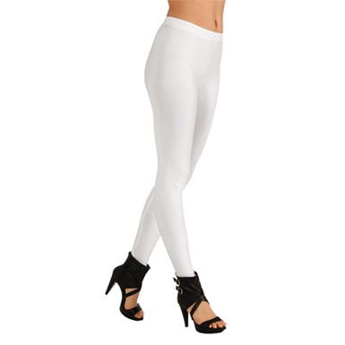 Womens White Colored Leggings Halloween Accessories